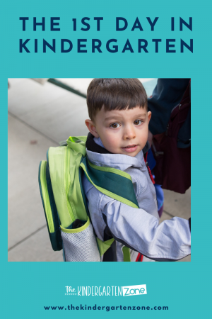 your child's first day in kindergarten